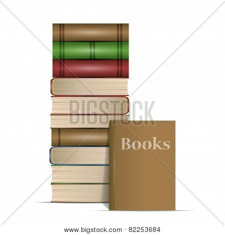 Vector illustration of old book. Vector illustration