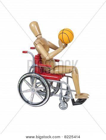 Shooting Basketball In A Wheelchair