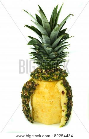 Pineapple With Green Leaves
