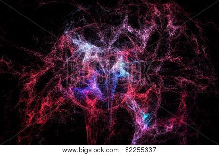 Abstract Fractal Texture. Threads Resembling Deep Space Explosion.
