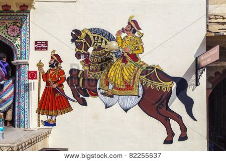 Wall Paintings Show Warriors In Ancient Times With Horses