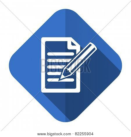 subscribe flat icon write sign