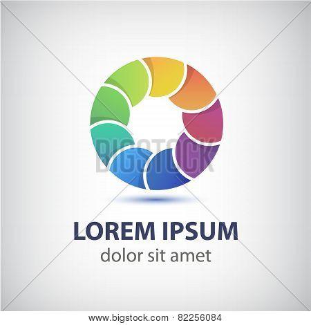 vector colorful rainbow loop circle icon