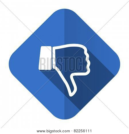 dislike flat icon thumb down sign