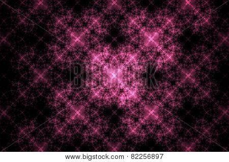 Abstract Geometric Pink Fractal Texture. Visualization Of Complex Equations.