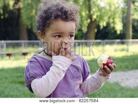 Child Picking Hose