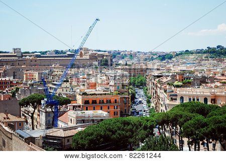 Rome City Aerial View From San Angelo Castle