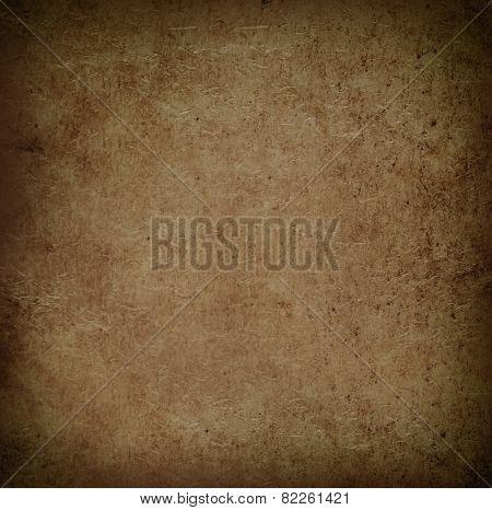 Old vintage grunge parchment-paper brown.
