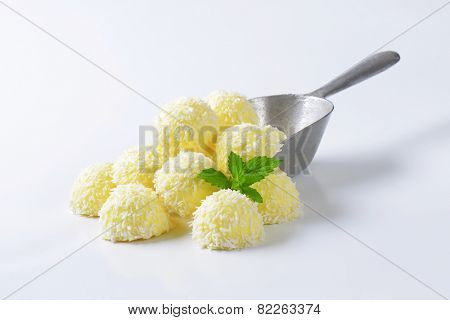 Snowball Truffles (White Chocolate Coconut Truffles)