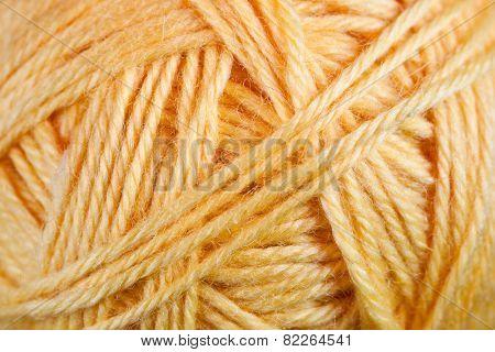 yellow woolen thread background