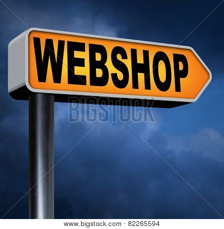 webshop online shopping for internet web shop or store buying and selling online