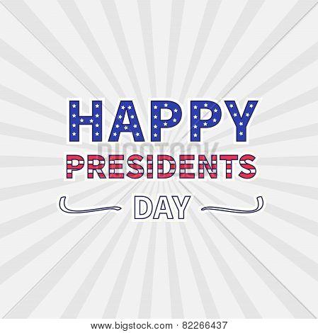 Gray Sunburst With Ray Of Light. Presidents Day Background Flat Design
