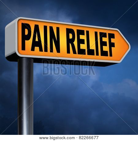 pain relief pain killer against chronic back pain or migraine attact
