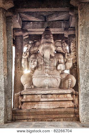 Ganesh Statue In Hampi