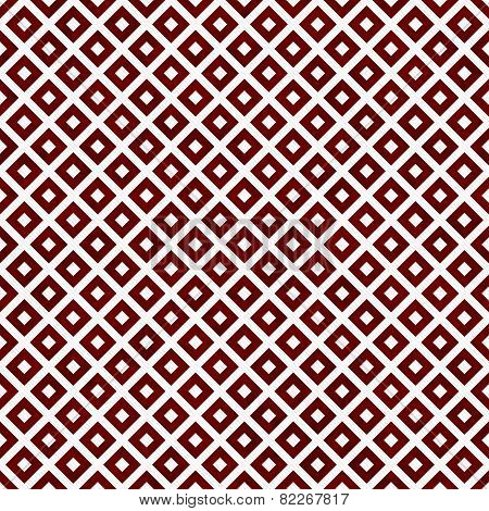 Red And White Diagonal Squares Tiles Pattern Repeat Background