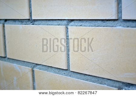 The Texture Of Stone And Brick With Cement Mortar