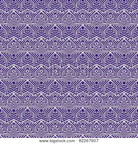 Purple And White Star Tiles Pattern Repeat Background