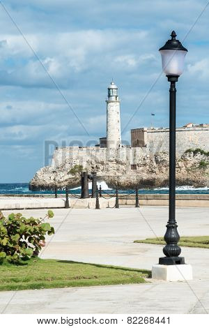 The castle of El Morro in Havana pictured from across the bay