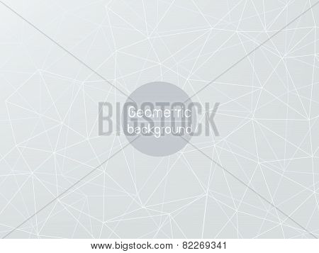 Grey Polygon Abstract Background