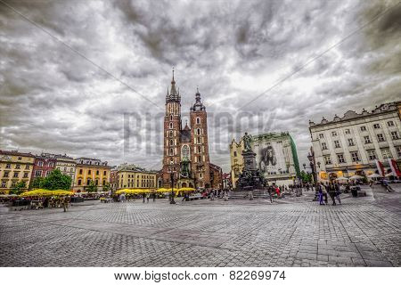 St. Mary's Gothic Church (mariacki Church) In Krakow