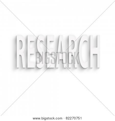 text on the wall or paper, research