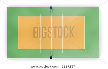 Volleyball Court Or Field Top View