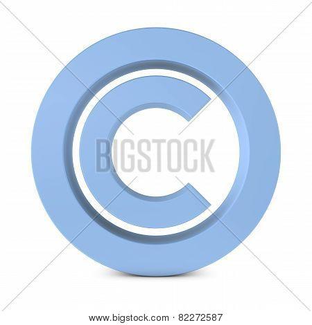 Huge Standing Copyright Symbol