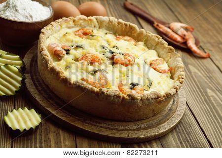 Kish With Shrimp And Zucchini