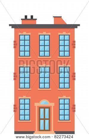 Brick townhouse