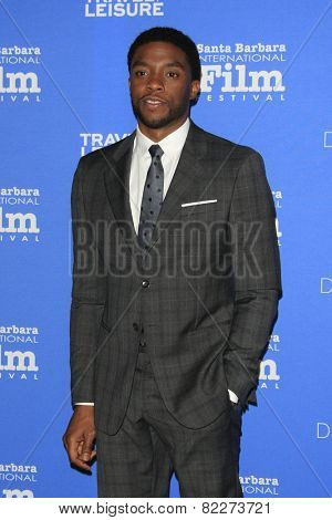 SANTA BARBARA - FEB 1:  Chadwick Boseman at the Santa Barbara International Film Festival - Virtuosos Award at a Arlington Theater on February 1, 2015 in Santa Barbara, CA