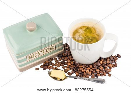 Coffee with added Butter