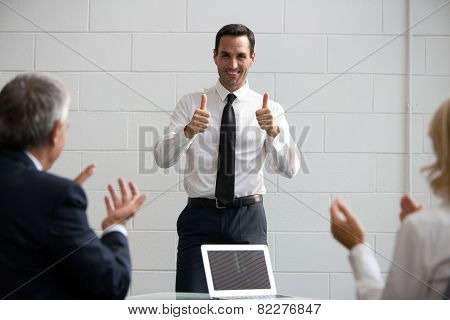 businesspeople during a meeting