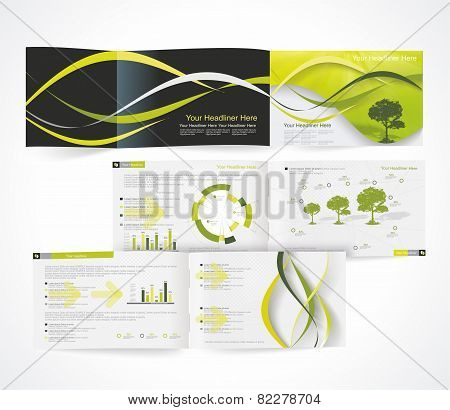 Blank Catalog Horizontal Format, Corporate Brochure Or Cover Design