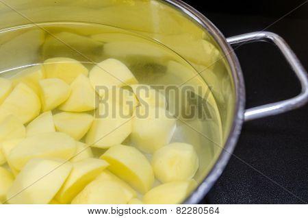 Pot With Potatoes