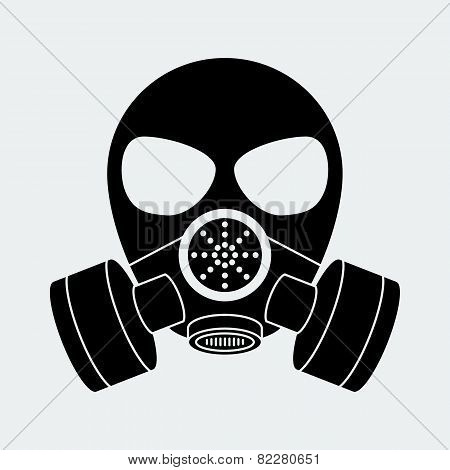 Vector biohazard mask white