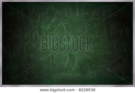 Old School Chalkboard, Greenboard Or Blackboard