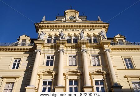 BAD ISCHL, AUSTRIA - DECEMBER 14: The post office from the imperial times of Austria in the town of Bad Ischl were emperor Franz Josef used to stay in the summer on December 14, 2014.