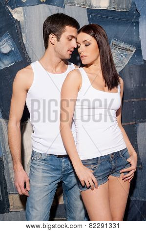 Couple In Jeans.