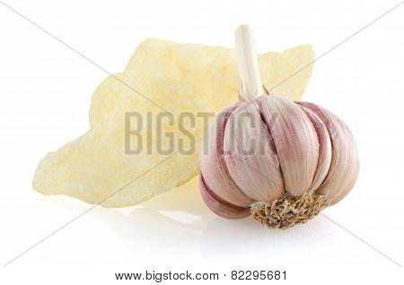 Potato Chips And Garlic