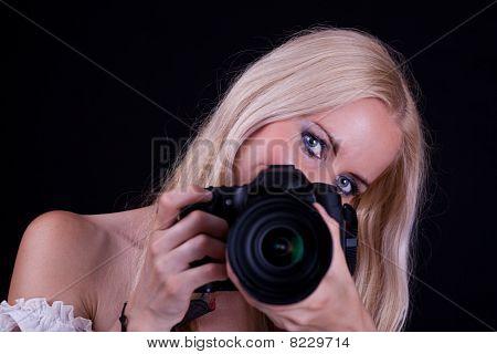 Woman And Camera