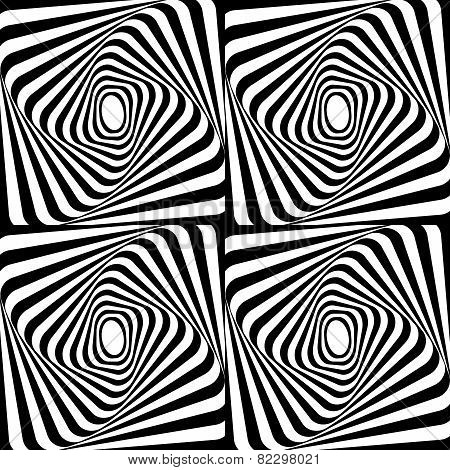 Pattern rectangles black and white