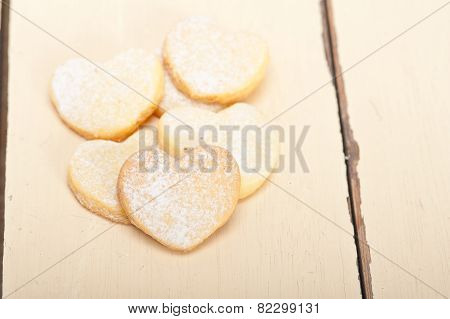 Heart Shaped Shortbread Valentine Cookies