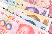 picture of yuan  - Chinese or Yuan banknotes money from China - JPG