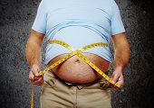 foto of body fat  - Fat belly - JPG