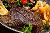 stock photo of flounder  - Fish dish  - JPG