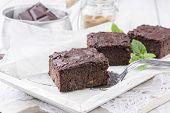 stock photo of brownie  - Brownies - JPG