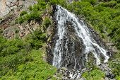 pic of bridal veil  - View of Bridal Veil Falls near Valdez - JPG