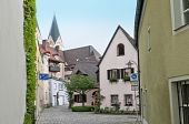 pic of square mile  - Cobbled square in a small Bavarian city - JPG