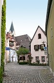 picture of square mile  - Cobbled square in a small Bavarian city - JPG