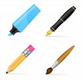 stock photo of marker pen  - Fountain pen - JPG